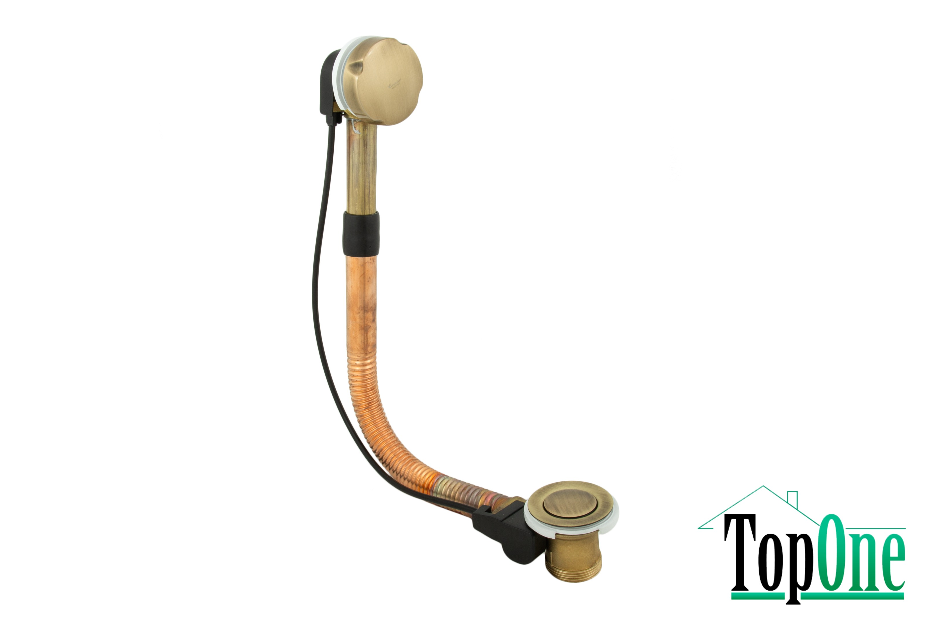 Сифон для ванны Emmevi CO1311L BR 64см бронза