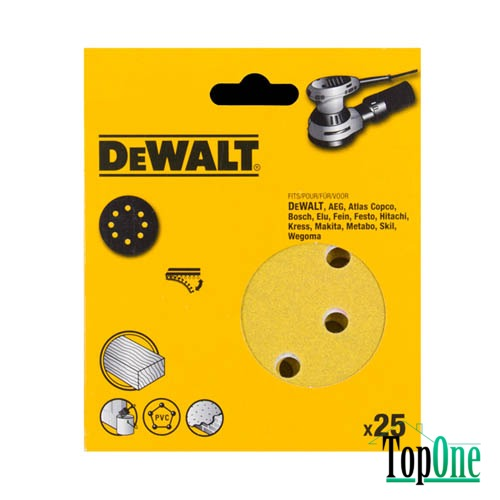 Cамоклеющаяся шкурка d=150мм, DeWALT DT3137XM