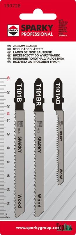 Набор пилок Sparky Т111C, T101D, T119BO (3шт) 20009500914