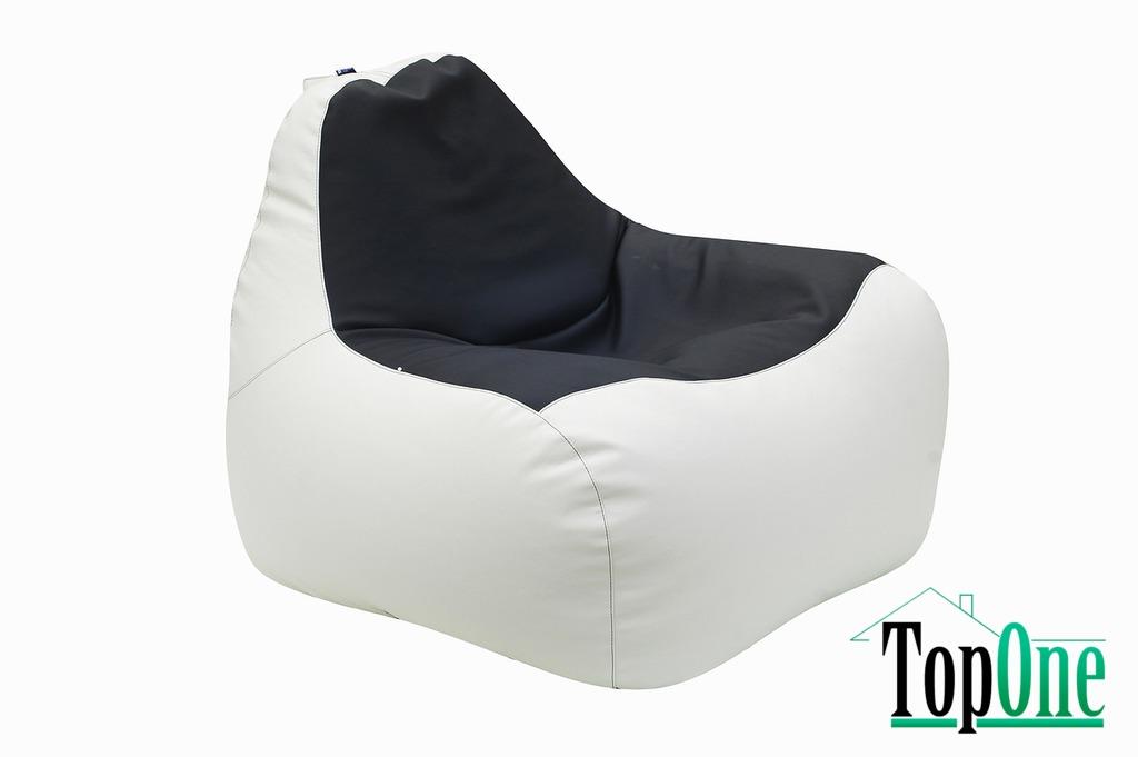 Кресло-Груша Примтекс Плюс Simba H-2200/D-5 S White-Black