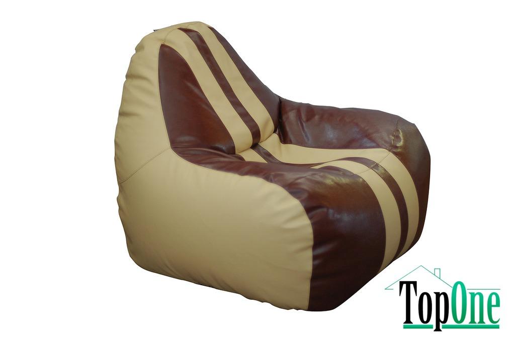 Кресло-Груша Примтекс Плюс Simba Sport H-2201/H-002 M Beige-Brown