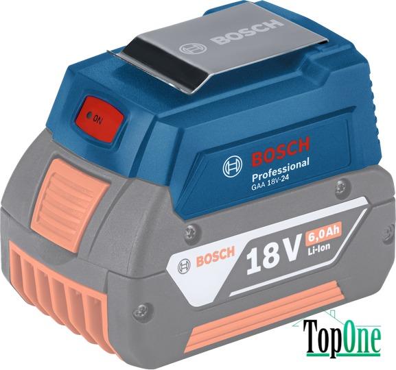 USB-переходник для зарядки на аккумулятор BOSCH GAA 18V-24 1600A00J61