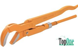 Ключ трубный TOLSEN 90°, 1.5 (10252)