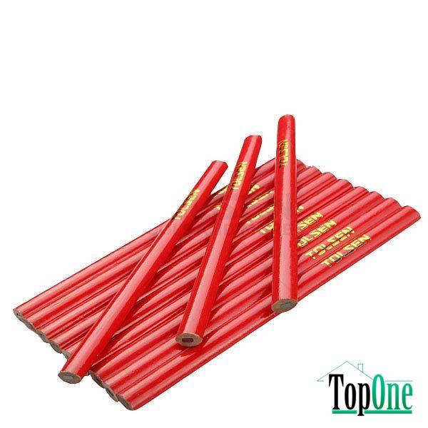 Комлект плотницких карандашей TOLSEN 180мм, овальные 12шт (42021)