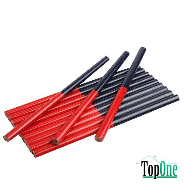Комплект плотницких карандашей Tolsen 180мм, овальные двухцветные 12шт 42022