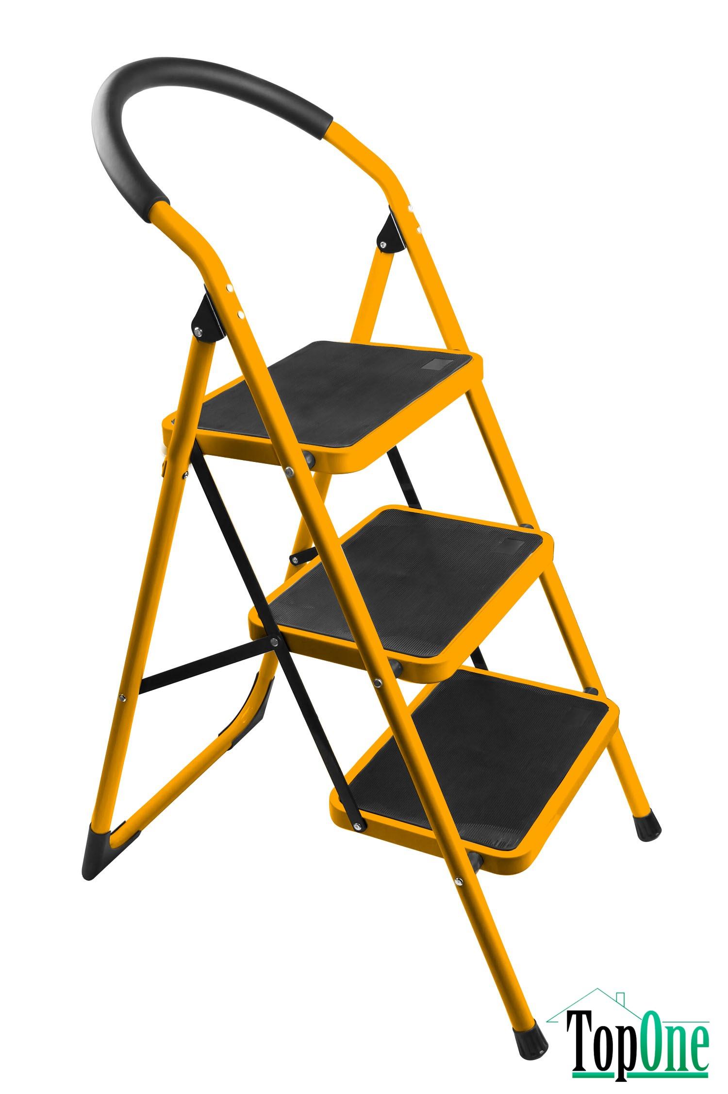 Лестница стальная 103см 3-ступени Толсен 62683