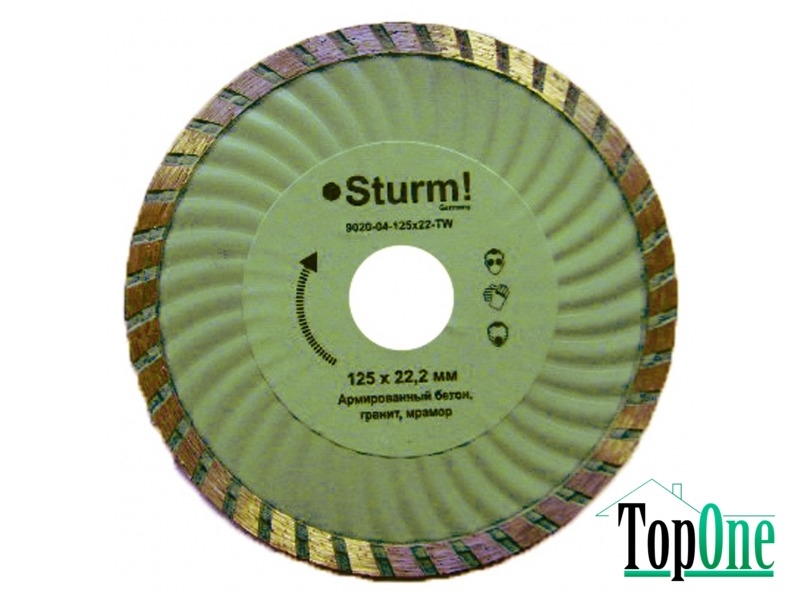 Алмазный диск Sturm ТурбоWave d=115 мм, 20-22% 9020-04-115x22-TW
