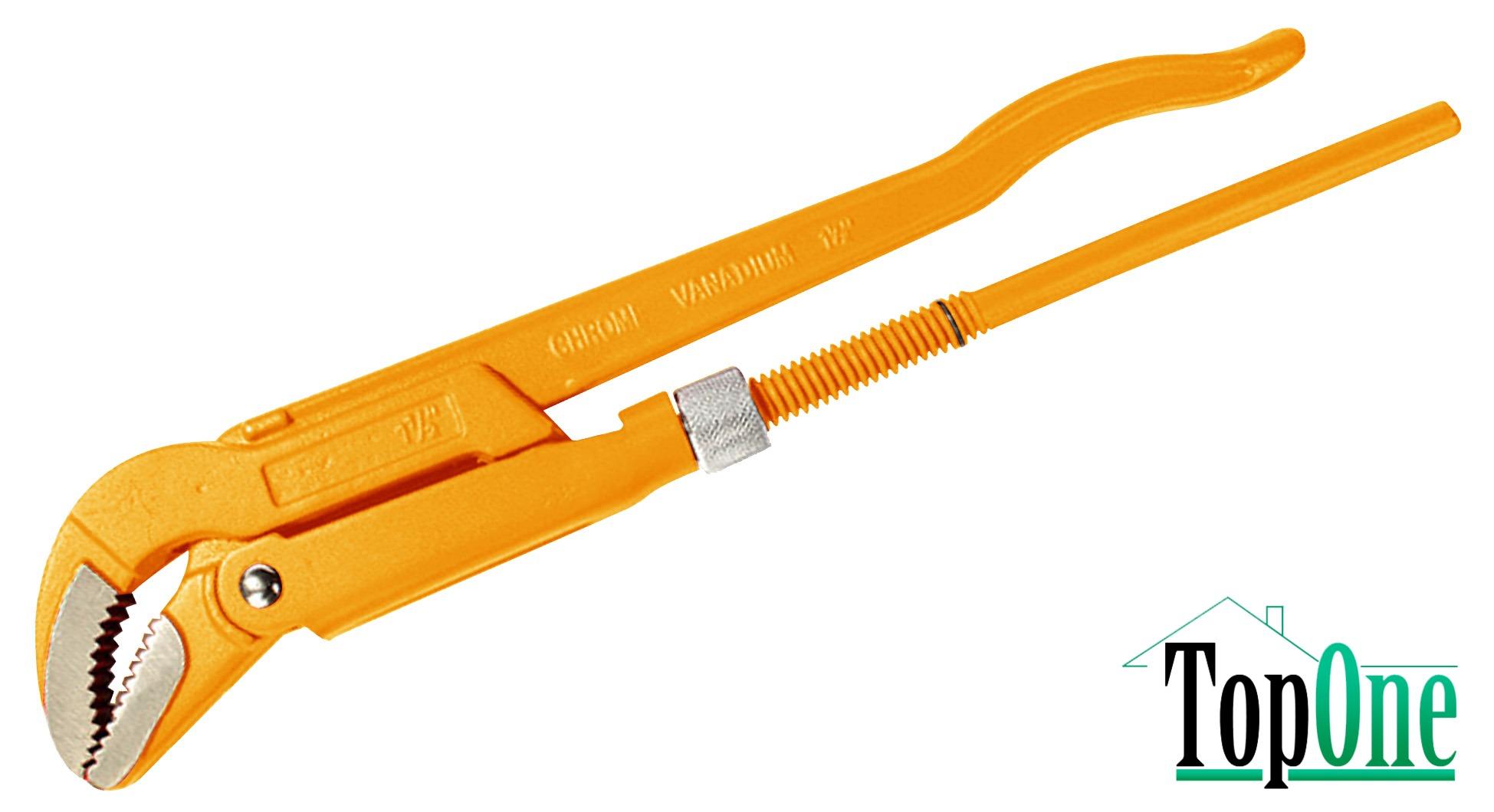 Ключ трубный Tolsen 45°, 2 (мах 60 мм) 10258