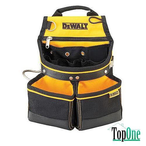 Поясная сумка с двумя карманами под крепеж и скобой для молотка, DeWALT, DWST1-75650