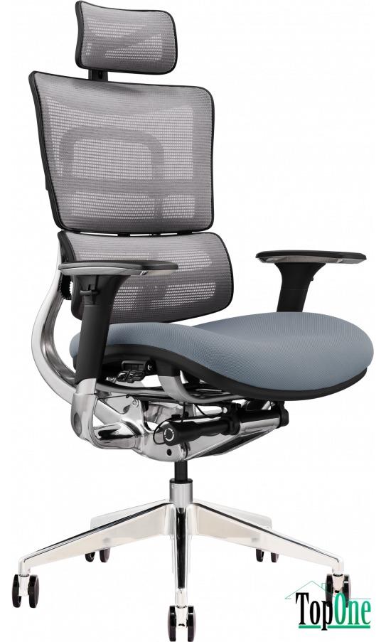 Офісне крісло GT X-801 Bright Gray (W-20 B-40) 4820241171255