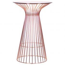 Стол AMF Maleo, rose gold, glass top 545683