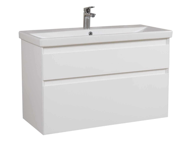 Aqua Rodos Мебель Элит (белый цвет) с умывальником CeraStyle Elite 100 см (консольная)