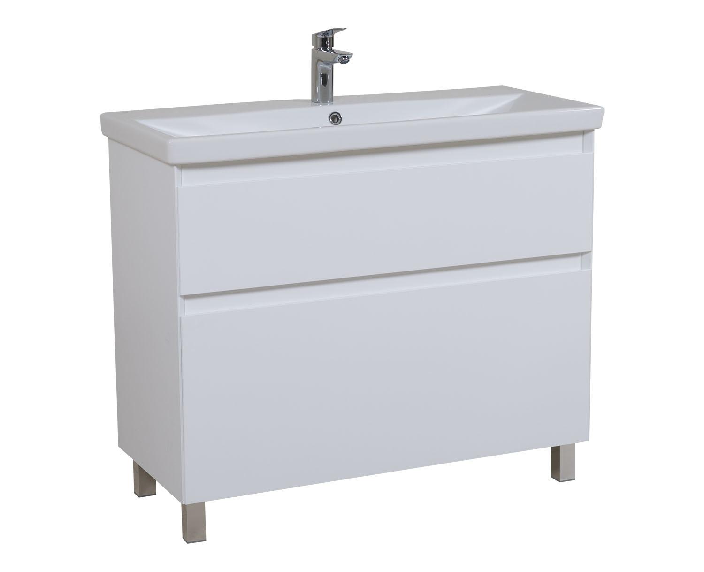 Aqua Rodos Мебель Элит (белый цвет) с умывальником CeraStyle Elite 100 см (напольная)