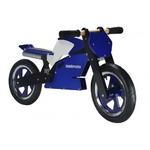 Беговел 12\ Kiddimoto Superbike деревянный, сине-белый SKD-73-51