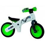 Велосипед (беговел) Bellelli B-Bip обучающий 2-5лет, пластмассовый, белый с зелёными колёсами BIC-75