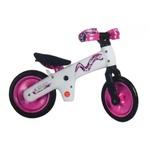 Велосипед (беговел) Bellelli B-Bip обучающий 2-5лет, пластмассовый, белый с розовыми колёсами SKD-90