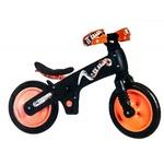 Велосипед (беговел) Bellelli B-Bip обучающий 2-5лет, пластмассовый, чёрный с оранжевыми колёсами SKD