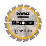 Диск пильный DeWALT, 136х10мм, 16z (WZ/ATB), +20 град, для DW935,DW936 DT1946